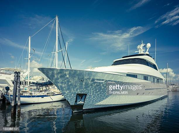 luxury yacht at coconut grove marina