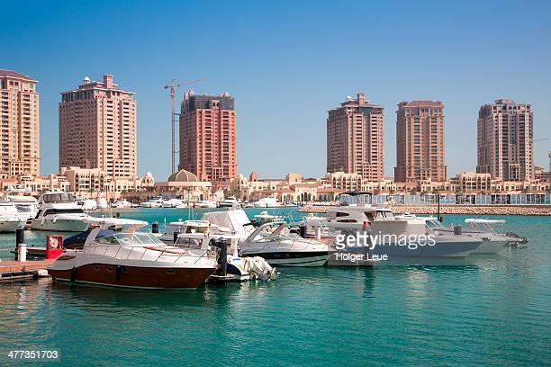 Luxury yachts at Porto Arabia marina, The Pearl