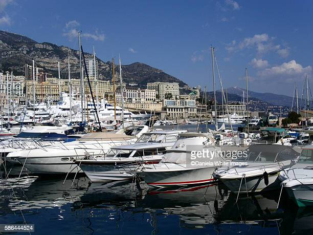 Luxury yachts in the main harbour, Monte Carlo, Monaco
