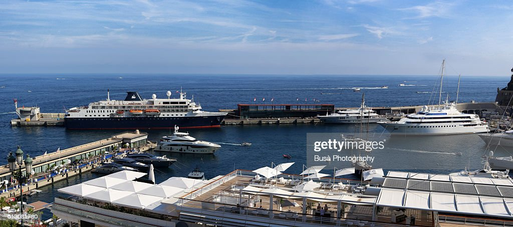 Luxury Yachts Passenger Ships And Cabin Cruisers In The Port Of - Cruise ships in monaco today