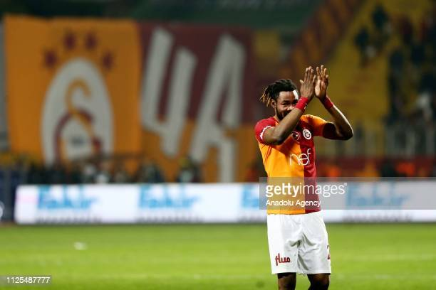 Luyindama of Galatasaray celebrates after the Turkish Super Lig soccer match between Kasimpasa and Galatasaray at Recep Tayyip Erdogan Stadium in...