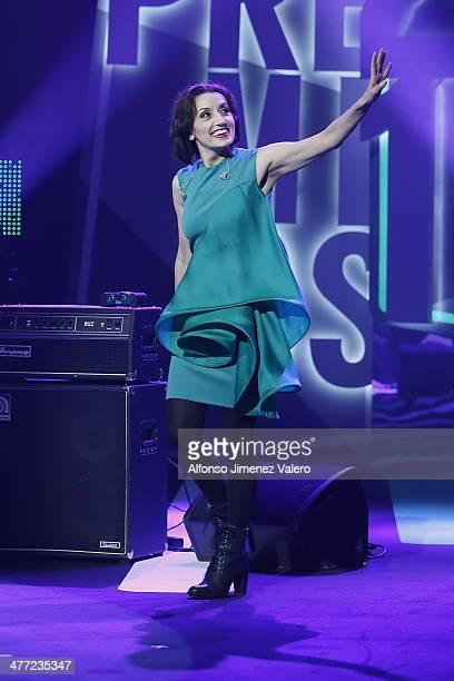 Luz Casal at Cadena Dial Awards on March 7 2014 in Valladolid Spain