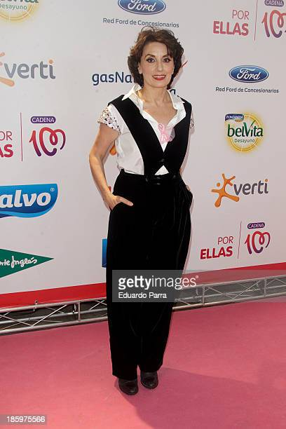Luz Casal attends 'Por ellas' concert photocall at Madrid sports palace on October 26 2013 in Madrid Spain