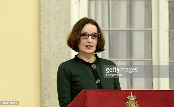 Luz Casal attends the 'National Culture Awards' 2015 ceremony at El Pardo Palace on February 16 2015 in Madrid Spain