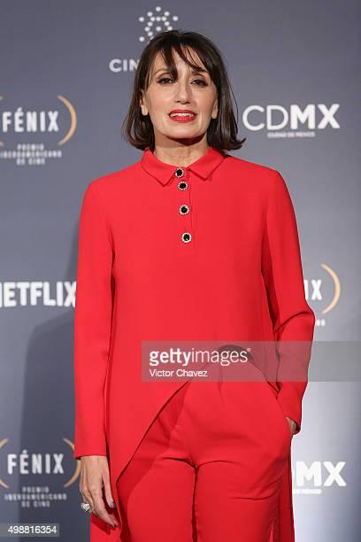 Luz Casal attends the Premio Iberoamericano de Cine Fenix 2015 at Teatro de La Ciudad on November 25 2015 in Mexico City Mexico