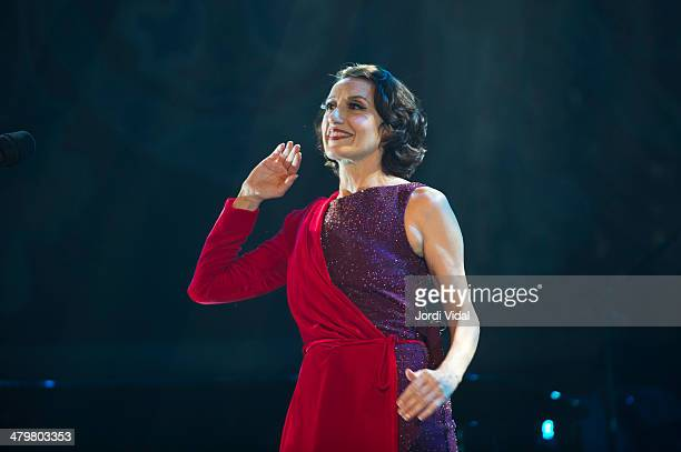 Luz Casal performs on stage at Palau De La Musica on March 20 2014 in Barcelona Spain