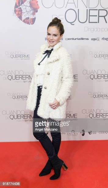 Luz Cipriota attends 'Cuando Dejes De Quererme' Madrid Premiere on February 15 2018 in Madrid Spain