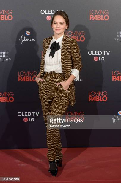 Luz Cipriota attends 'Loving Pablo' Madrid Premiere on March 7 2018 in Madrid Spain