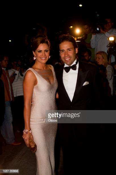 Luz Elena Gonzales attends to the wedding of Pedro Fernandez and Rebeca Garza on October 9 2010 in Mexico City Mexico