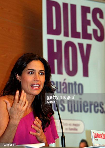 Luz Maria Zetina during the presentation of the TV Campaing Todo es Mejor En Familia of Televisa on August 19 2010 in Mexico city Mexico