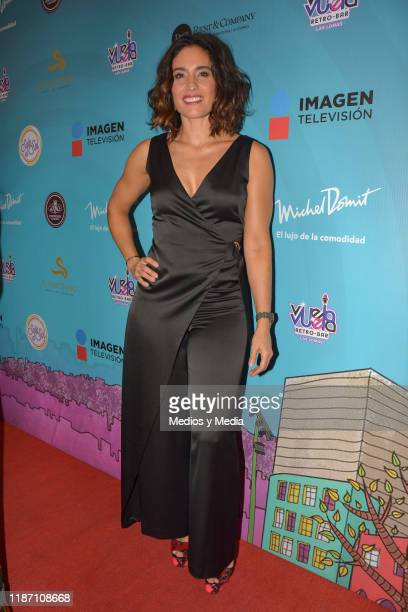 Luz Maria Zetina poses fot photos during the Red Carpet of 'Sale El Sol' third anniversary party on November 11 2019 in Mexico City Mexico