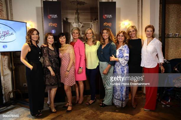 Luz SanchezMellado Angela Vallvey Marta Nebot Ines Ballester Isabel San Sebastian guest Beatriz Cortazar Marta Robles and Teresa Viejo attend the...
