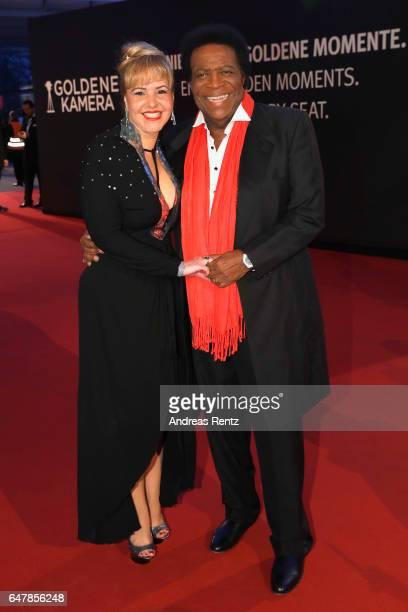 Luzandra Blanco and Roberto Blanco arrive for the Goldene Kamera on March 4 2017 in Hamburg Germany