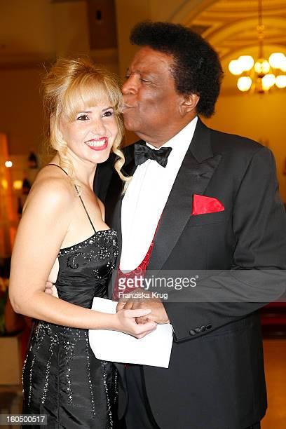 Luzandra Strassburg and Roberto Blanco attend the 'Semper Opera Ball 2013' on February 1 2013 in Dresden Germany