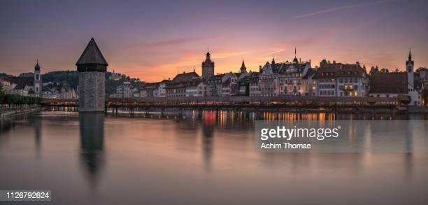 luzern, switzerland, europe - spiegelung stock pictures, royalty-free photos & images
