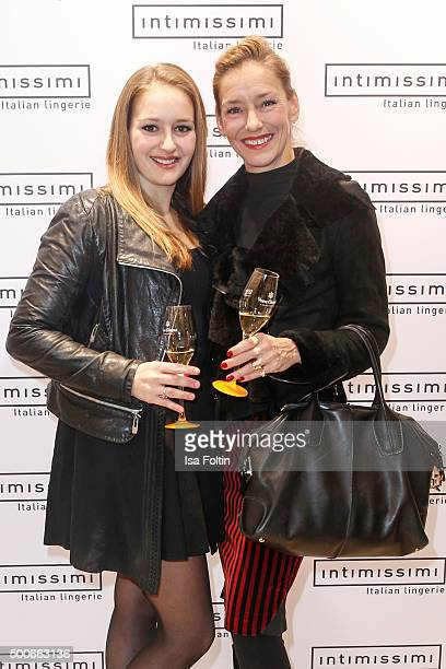 Luzie Seitz and Lisa Seitz attend the INTIMISSIMI Christmas Reception on December 09 2015 in Munich Germany