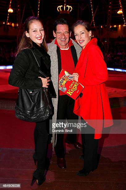 Luzie Seitz Max Tidof and Lisa Seitz attend the Circus Krone March Premiere at Circus Krone on March 1 2015 in Munich Germany