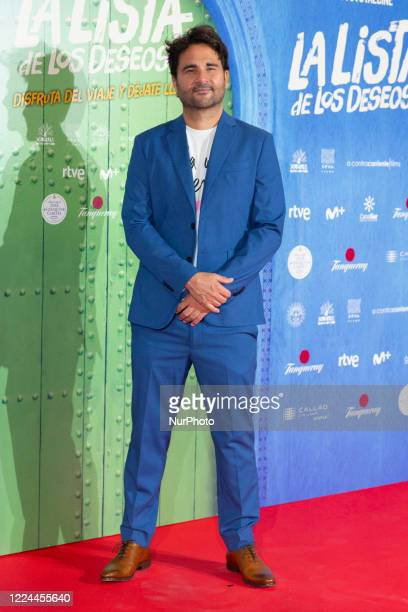 Álvaro Díaz Lorenzo poses for the photographers during the premiere of the film 'La lista de deseos' directed by Spanish film maker Alvaro Diaz...