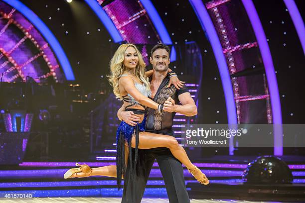 Lveta Lukosiute and Thom Evans attends a photocall to launch the Strictly Come Dancing Live Tour 2015 at Birmingham Barclaycard Arena on January 15...