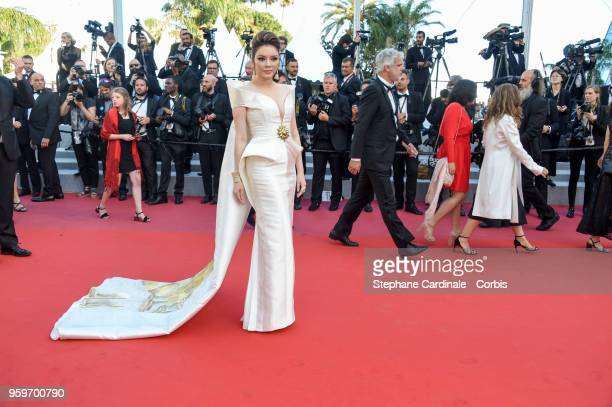 Ly Nha Ky attends the screening of 'Capharnaum' during the 71st annual Cannes Film Festival at Palais des Festivals on May 17 2018 in Cannes France