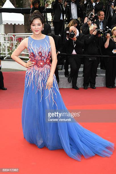 Ly Nha Kyser attends the closing ceremony of the 69th annual Cannes Film Festival at the Palais des Festivals on May 22 2016 in Cannes France