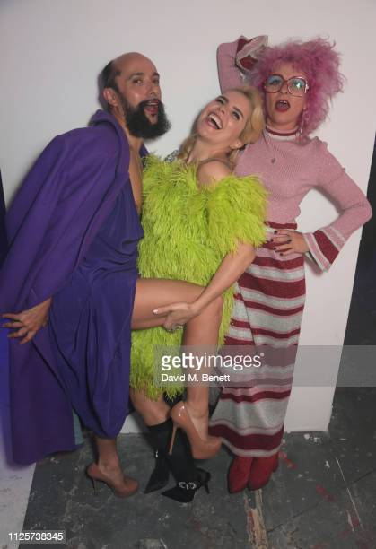 Lyall Hakaraia Paloma Faith and Lyndell Mansfield attend the LOVE x The Store X party celebrating LOVE issue 21 supported by Perrier Jouet at The...