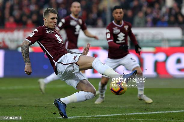Lyanco Evangelista Silveira Neves Vojnovic, of Torino FC in action during the Italia Tim Cup football match between Torino Fc and Acf Fiorentina. Afc...