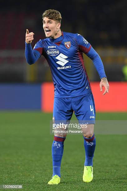 Lyanco of Torino FC during the Serie A match between US Lecce and Torino FC at Stadio Via del Mare on February 02 2020 in Lecce Italy