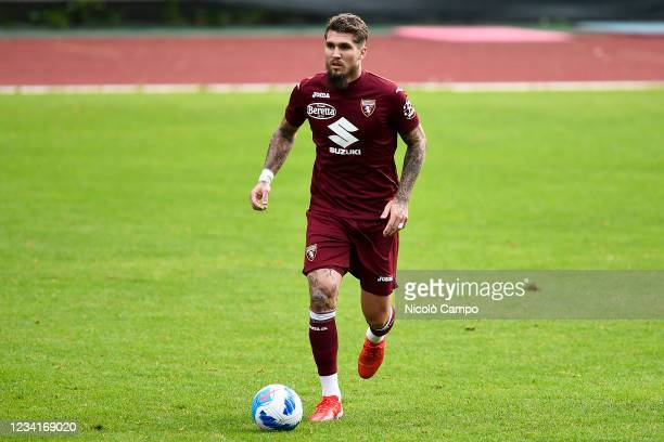 Lyanco Vojnovic of Torino FC in action during the pre-season friendly football match between Torino FC and SSV Brixen. Torino FC won 5-1 over SSV...