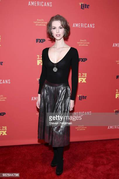 Lyanka Gryu attends the 'The Americans' Season 6 Premiere at Alice Tully Hall Lincoln Center on March 16 2018 in New York City