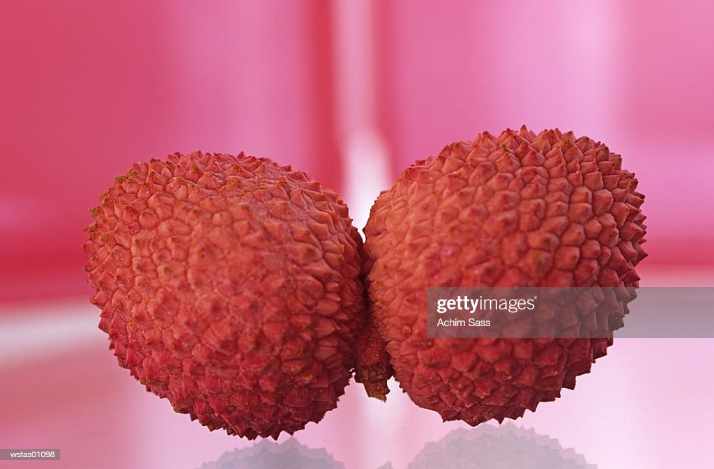 Lychee, close up : Foto de stock