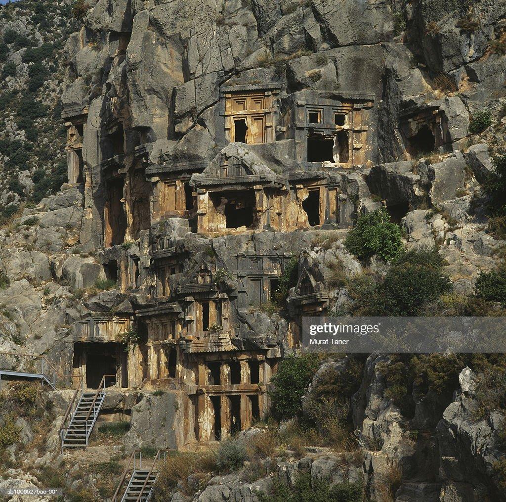 Lycian rock tombs : Foto stock