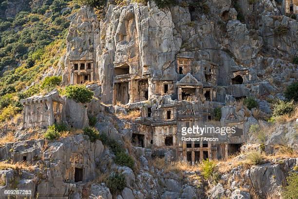 Lycian rock-hewn tombs at the ruins of Myra