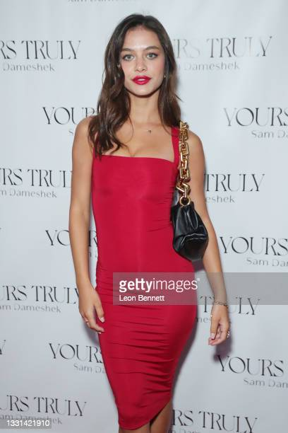 """Lydia Bielen attends Celebrity Photographer Sam Dameshek's Black Tie Book Release Event For """"Yours Truly"""" at Fellow on July 29, 2021 in Los Angeles,..."""