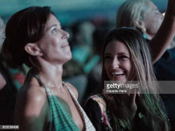 Lydia Bosch and Andrea Molina Bosch attend the David Bisbal concert at Royal Theatre on July 26 2017 in Madrid Spain