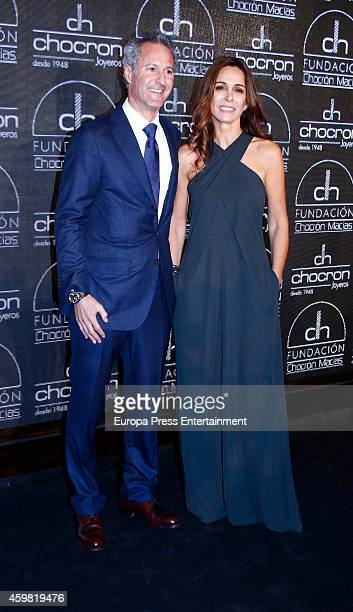 Lydia Bosch and Moises Chocron attend the Chocron Jewelry Charity Catalogue Presentation on December 1 2014 in Madrid Spain