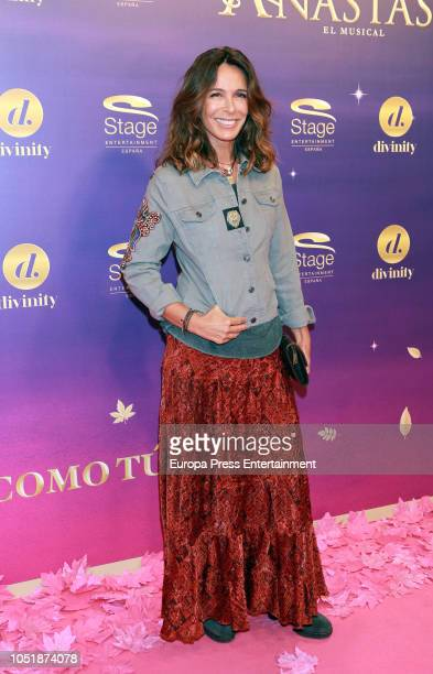 Lydia Bosch attends 'Anastasia The Musical' premiere at the Coliseum Teather on October 10 2018 in Madrid Spain