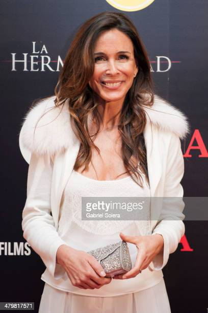 Lydia Bosch attends 'La Hermandad' Madrid Premiere at Capitol Cinema on March 20 2014 in Madrid Spain