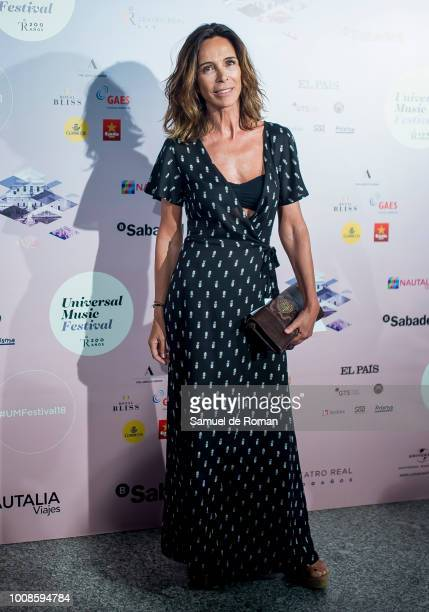 Lydia Bosch attends Pablo Alboran concert in Madrid on July 31 2018 in Madrid Spain