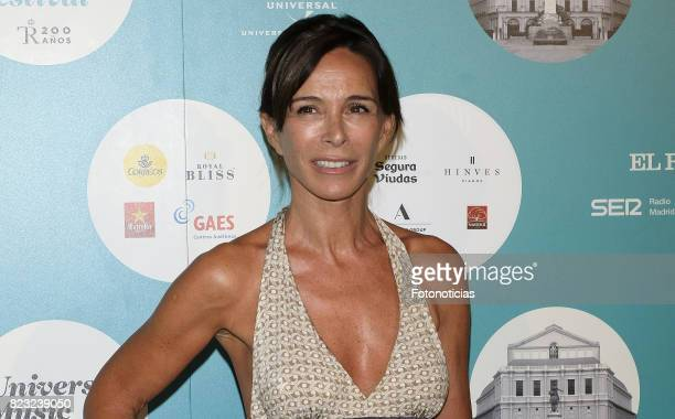Lydia Bosch attends the David Bisbal Universal Music Festival concert at The Royal Theater on July 26 2017 in Madrid Spain