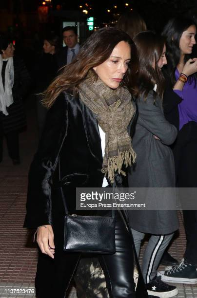 Lydia Bosch attends the funeral of Mrs Mercedes Junco in The Church of San Fermín de los Navarros on March 21 2019 in Madrid Spain