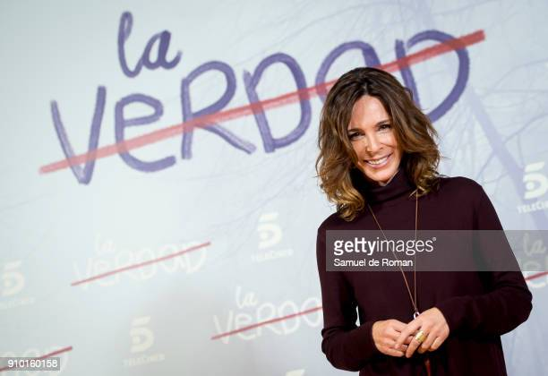 Lydia Bosch attends the 'La Verdad' Presentation in Madrid on January 25 2018 in Madrid Spain