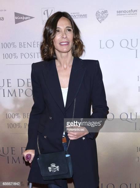 Lydia Bosch attends the 'Lo Que De Verdad Importa' premiere at the Hotel Vincci Capitol on February 15 2017 in Madrid Spain