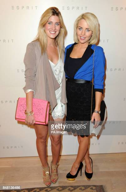 Lydia Bright and Francesca Hull attending the exclusive launch of Esprit's flagship store Regent St London