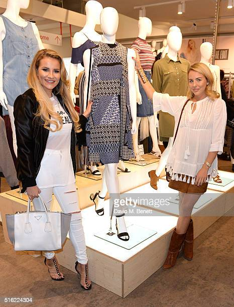 Lydia Bright and Georgia Koulousou at the launch of The Edit Matalan's new SS16 collection on March 17 2016 in London England