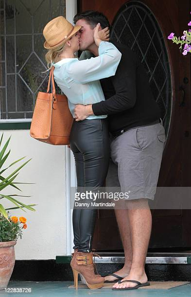Lydia Bright and James 'Arg' Argent are seen together in Woodford Green on August 24 2011 in London England