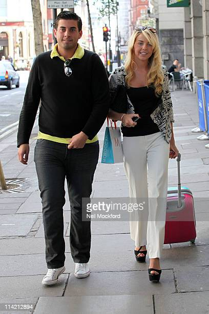 COVERAGE *** Lydia Bright and James Argent sighted leaving 'Sanrizz' hair salon on May 16 2011 in London England