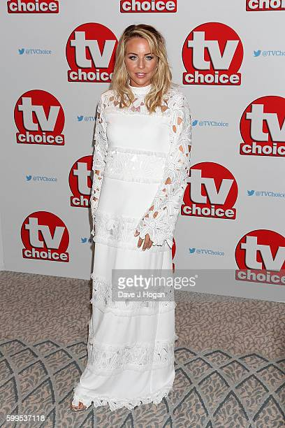 Lydia Bright arrives for the TVChoice Awards at The Dorchester on September 5 2016 in London England