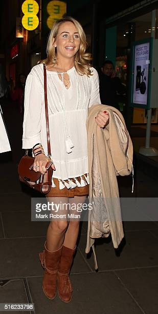 Lydia Bright attending Matalan's The Edit Spring/Summer Launch party at the Oxford Street store on March 17 2016 in London England