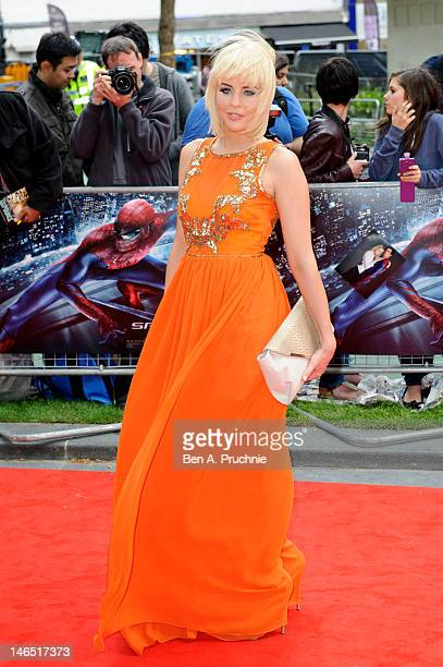 Lydia Bright attends the Gala Premiere of The Amazing SpiderMan at Odeon Leicester Square on June 18 2012 in London England